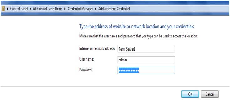 how to not allow generic credentials under credential manager gpedit